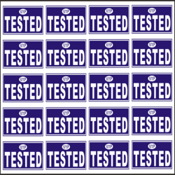 Blue And White Tested OK Sticker, Packaging Type: Packet