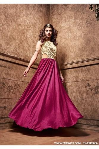 A Line Flared Indian Prom Dresses Evening Beige Gown, Size: All ...