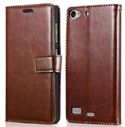 Brown & Black Leather Mobile Cover, ZIEPL00990441