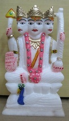 Marble Kartikeya God Statue