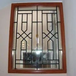 Iron Powder Coated MS grill for wooden window