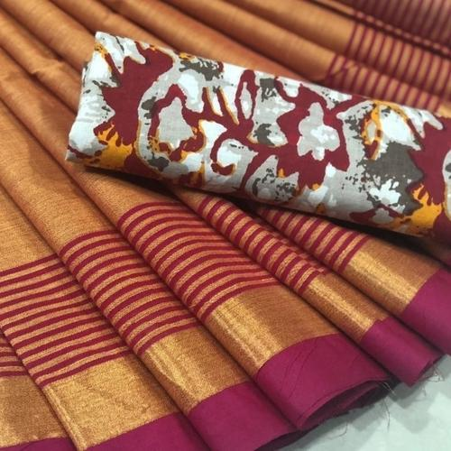 b4975f265c Golden Sunrise Chettinad Saree with Kalamkari Blouse at Rs 700 ...