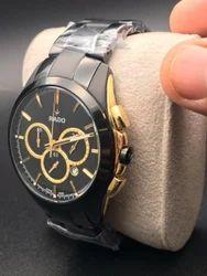 Black & Gold Wrist Watch For Men