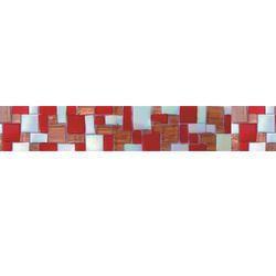 Hand Cut Borders Glass Mosaic Tiles