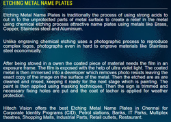 EACHING NAME PLATE MATEL