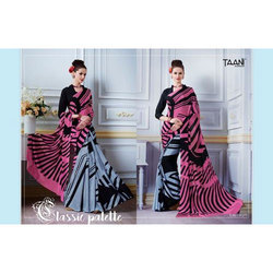 Taani Party Wear Printed Saree, With Blouse Piece