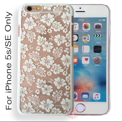 Flowery Vines Beautiful Flowers Case Semi Hard Transparent Back