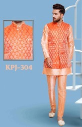 Fancy Embroidered Kurta Pajama with Jacket