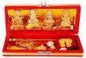 Kesar Zems Zinc Goddess Dhan Laxmi Kuber Bhandari Yantra Set (19 cm x 8 cm x 3 cm, Gold, Pack of 14)