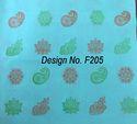 Non Mettalic Printed Fabric F205