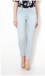 Women Regular Fit Van Heusen Blue Jeans VWDN317L06688, Waist Size: 32