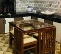 Lrf Teak Wood Wooden Dining Set For 4 People, For Home, Size: 3