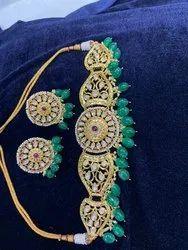 Wedding Wear Artificial Jewelry Kundan Choker Set, Necklace