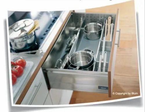 Hafele Tandembox Plus Storage Drawer For Cooking Utensils Drawer