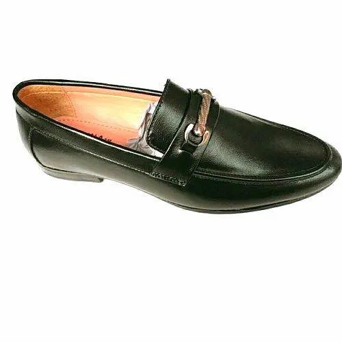 mens black leather loafers uk