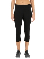 Jockey Black And Ruby Knit Sports Capri