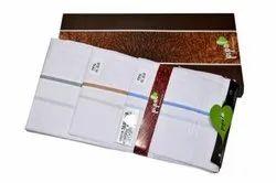 Cotton Striped new satin handkerchief, Size: 19x19 Inch