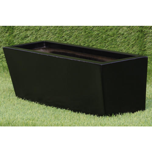 Black Rectangular Liner Box Frp Planter Size 22 7 7 Inch Rs 750