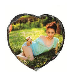 Heart Shape Stone Glossy Photo Frame