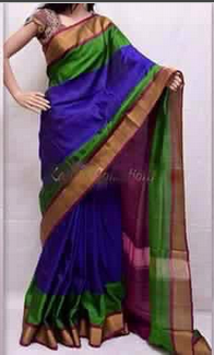 308f47a7f7f3b4 Royal Blue With Dark Magenta Uppada Special Border Silk Sarees