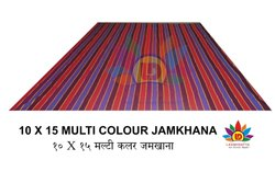 Laxmidatta Multi Color Cotton Jamkhana, Size: 10* 15