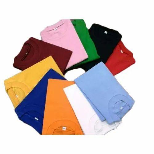Cotton Casual Wear Mens Round Neck T-Shirt