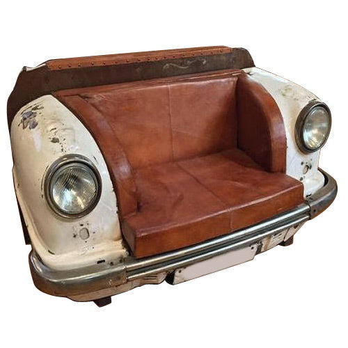 Walnut Antique Automobile Ambassador Car Sofa