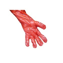 Red Veterinary Gloves