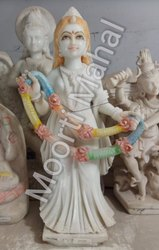 White Marble Welcome Statue