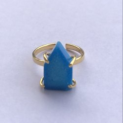 Blue Sugar Druzy Ring