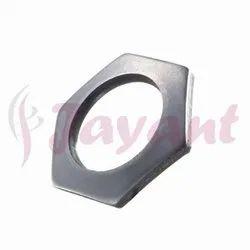 Hexagonal Hole Washer - Hex Center Hole, XYLAN Coated, Auto Black, Plain Finish Hex Hole Washers