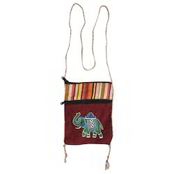 Elephant Embroidered Fancy Sling Bag