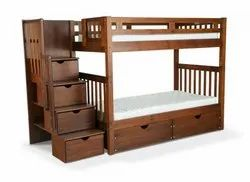 Kids Wooden Bunk Bed Without Polish