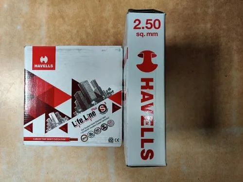Copper 1 Core Havells Cables And Wires For House Wiring Wire Size 2 5 Sq Mm Rs 1705 Roll Id 21993459330