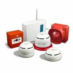 Red, White Wireless Fire Alarm System, for For Fire Frightening