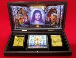 Rangoli Plastic Jesus Gift Combo Set