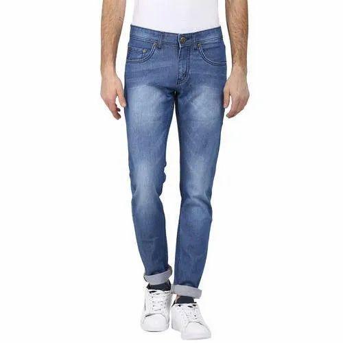 Plain Mens Cotton Jeans