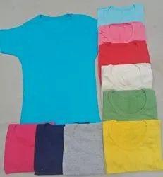 Plain Half Sleeves Ladies Top