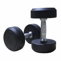 Fixed Weight Rubber Round Dumbbell