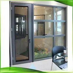Powder Coated Aluminium Door, For Home, Single