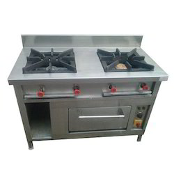 2 Burner Commercial Gas Stove with Oven for Restaurant