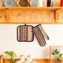 Cotton Padded Oven Glove & Pot holder