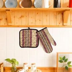 Cotton Padded Oven Glove & Pot holder
