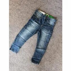 Casual Wear Kids Fancy Denim Jeans