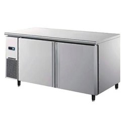 Stainless Steel Double Door Undercounter Refrigerator, 2~+10 Degree C, Capacity: 282 L