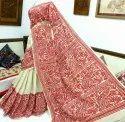 Gachhi Tasur Silk Kantha Stitch Saree