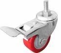 Ustar Single Wheel Pu Caster Thread With Break