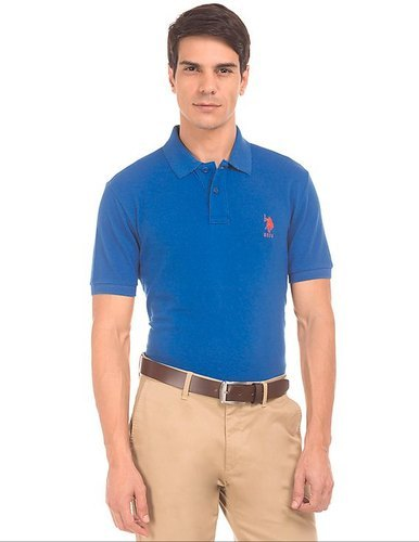 U.S. POLO Men Solid Slim Fit T Shirt
