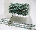 Amazonite Rondelle Faceted Beaded Chain