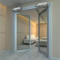 Aluminium Telescopic Glass Sensor Door